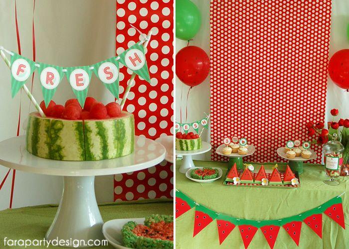 Fiesta de Sandia- Watermelon Party by Fara Party Design Printable Parties IDEAS