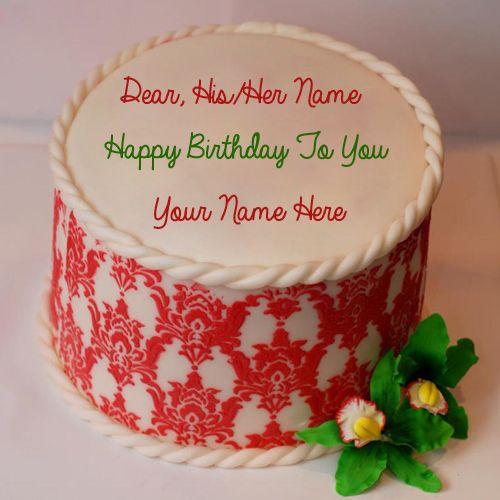 Write Name on Gorgeous Happy Birthday Cake.Creative Birthday Cake ...