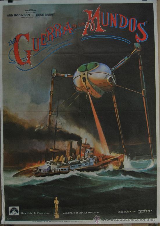 Antiguo Cartel Cine poster de la pelicula, la guerra de los mundos, ann robinson, gene barry
