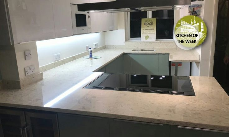 Kitchen of the week… Located in Epping, Essex, showcasing the Strapazzate 30mm