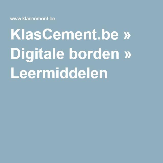 KlasCement.be » Digitale borden » Leermiddelen