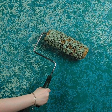 If you are new to decorative painting, sponging is a great place to start. Sponge on glaze or sponge off glaze to create the custom look perfect for you. To cover a larger area in less time while still delivering beautiful results use a sponge roller in place of the natural sea sponge.