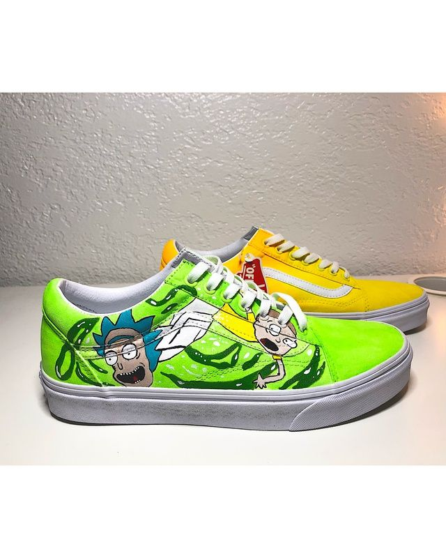 Rick and Morty old schools vans by
