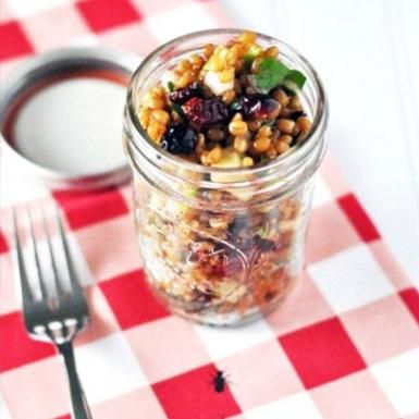 Wheat Berry Apple Salad - Healthy Recipes: Mason Jar Meals and Desserts - Shape Magazine