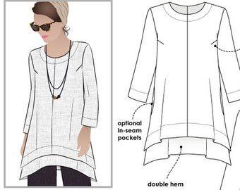 Daisy Designer Tunic Sizes 10 12 14 Women's Tunic by StyleArc