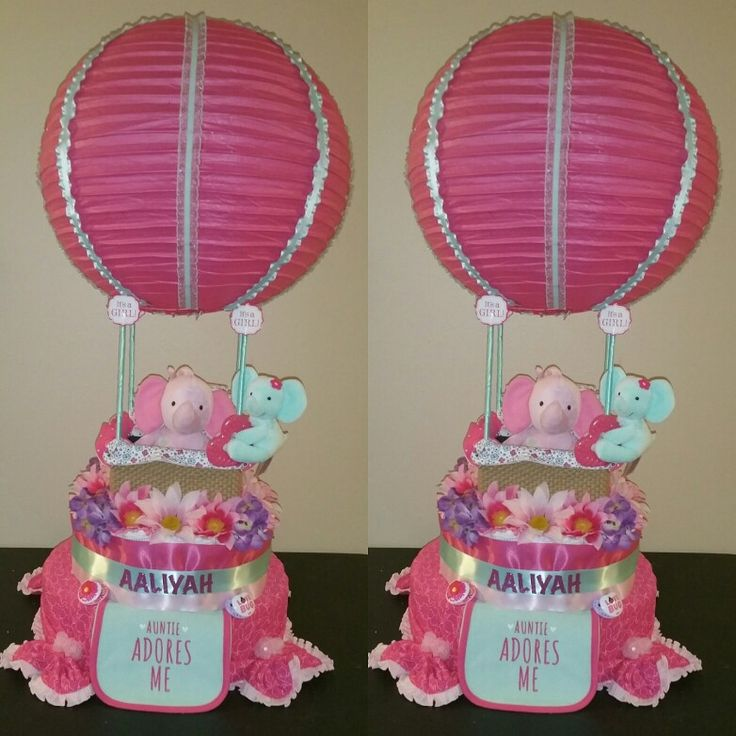 hot air balloon diaper cake made by me diaper cake pinterest air balloon cakes and diaper. Black Bedroom Furniture Sets. Home Design Ideas