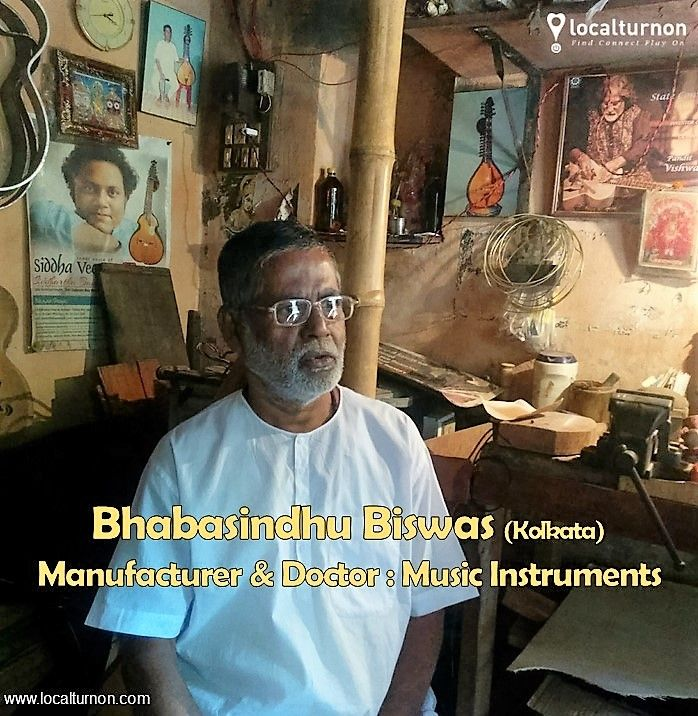 """The #MANUFACTURER and #DOCTOR - Music #Instruments !  #Localturnon travels to #Ultadanga (#kolkata) to meet Shri. #Bhabasindhu #Biswas who has been producing and """"doctor""""-ing music instruments for over 30 years. Some of his prominent associations include the #Mohan #Veena & #Siddha #Veena.  #Localturnon salutes this unsung hero of our Music Industry !  #turn #On #music 