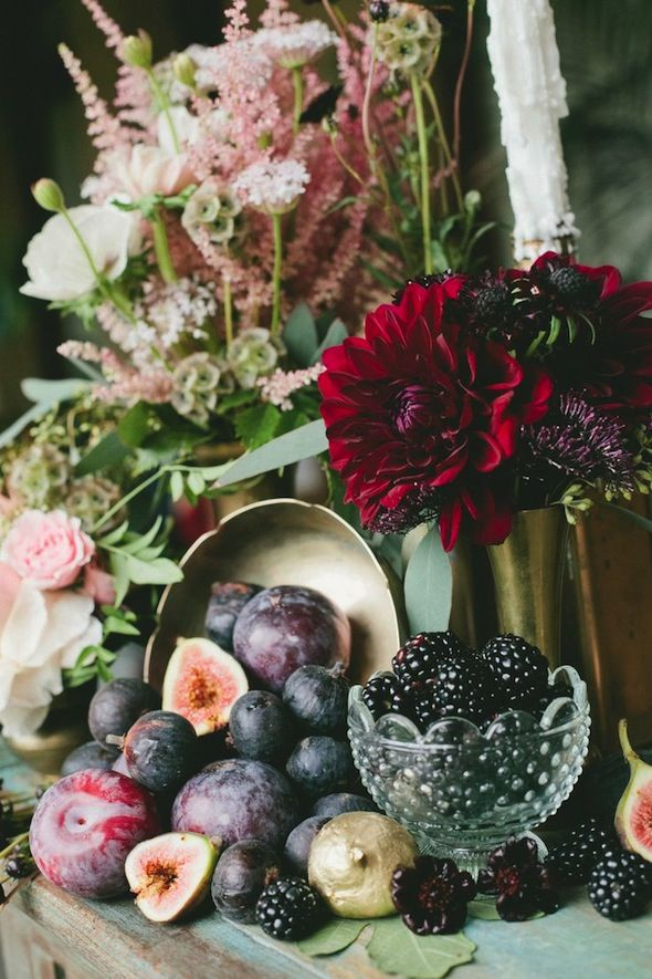 WEDDING COLORS IN ONE PHOTO! navy, blush, celadon, berry and gold.