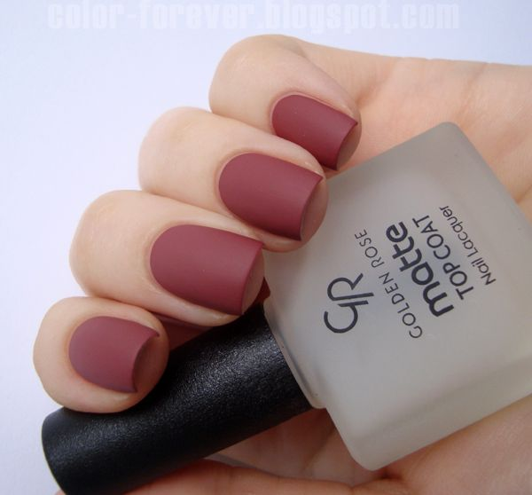 Golden Rose Matte Top Coat