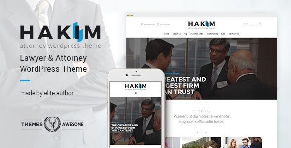 Attorney and Lawyer WordPress Theme - Hakim