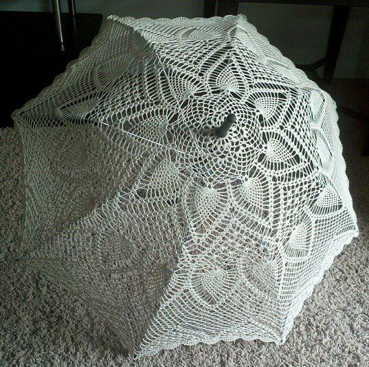 Crocheted Umbrella or Parasol Cool Crochet Stuff Pinterest