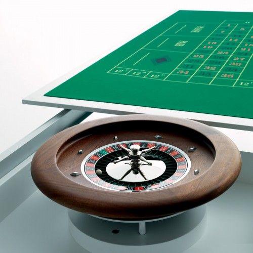 Tavolo da gioco Vegas con ripiani intercambiabili e roulette di Miniforms