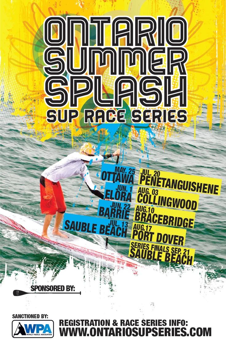 Ontario SUP Race Series Poster Design