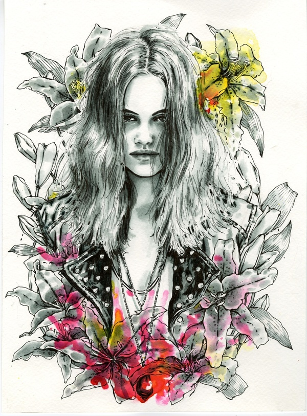 Personal Work 2011 by Nicole Guice, via BehanceNicole Guic Illustration, Modern Art, Inspiration Artists, Beautiful Watercolors, Watercolors Illustration, Fashion Illustration, Watercolour Art, Art 2013, Britney Prints