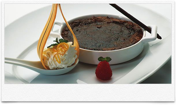Holland America Grand Marnier Chocolate Volcano Cake #cruiselinerecipes