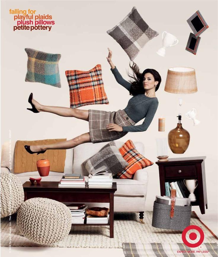 Falling for: playful plaids, plush pillows & petite pottery.