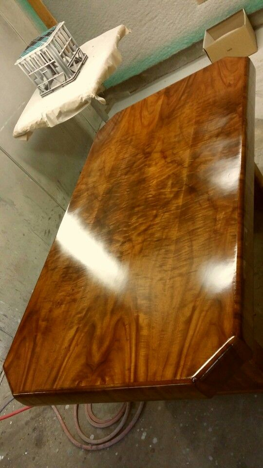 Flame maple table