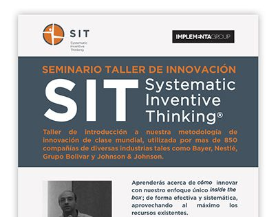 "Check out new work on my @Behance portfolio: ""Invitación Seminario SIT - Implementa"" http://be.net/gallery/63553301/Invitacion-Seminario-SIT-Implementa"