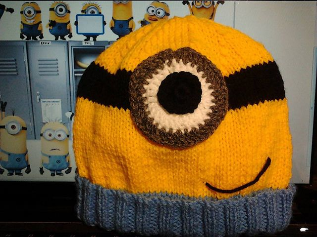 17 Best ideas about Minion Beanie on Pinterest Crocheted baby hats, Crochet...