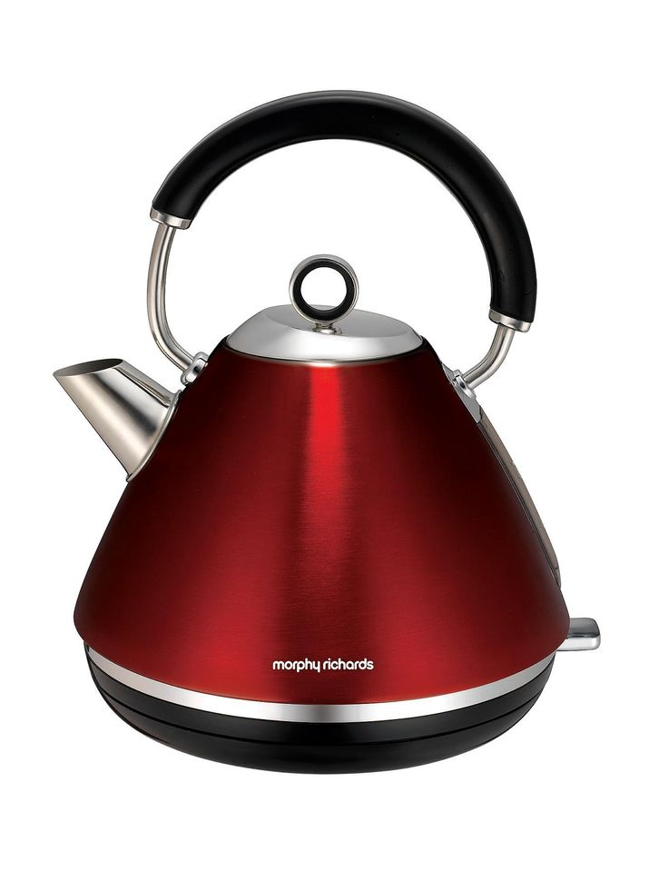 Morphy Richards 102004 Accents Pyramid Kettle - Red | very.co.uk