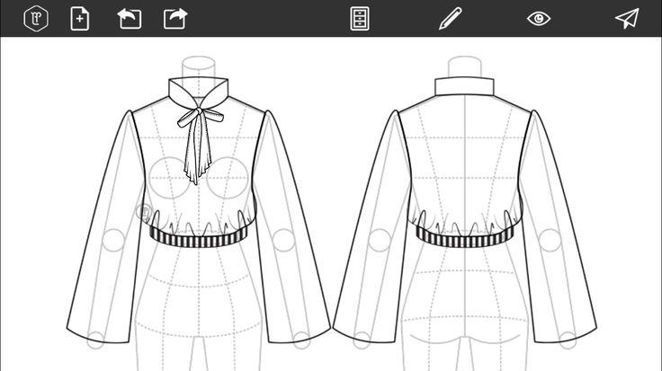 #FashionDesign #Flats #Sketch #Fashion #Design #Fashionillustration  http://www.fashiondesignapp.com/es http://www.fashiondesignapp.com/