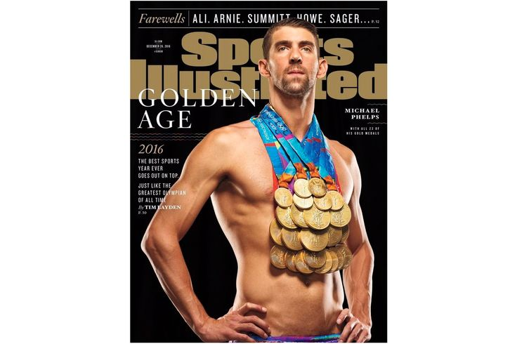 Michael Phelps Poses With All 23 Gold Medals on Latest 'Sports Illustrated' Cover