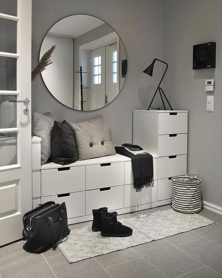 Scandinavian Entrance … – #dekoration #wohnung # möbel #dekorationsideen #d