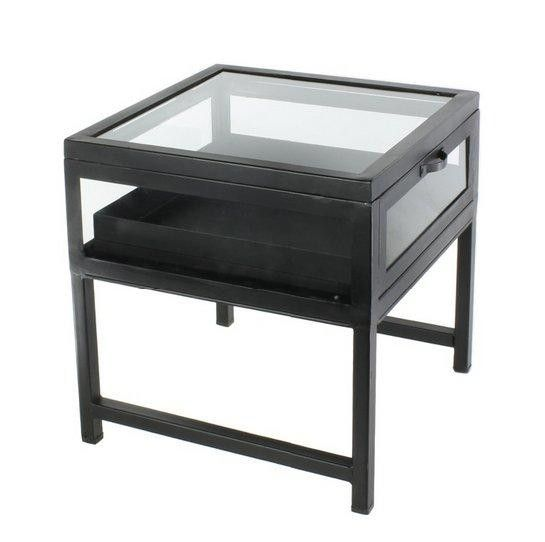 Homart Curio Iron Side Table Black Waxed Products Irons And Black
