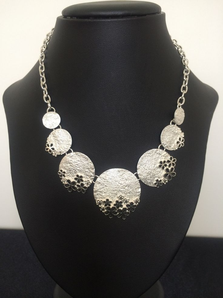 Unique Fashion Jewellery Australia - Silver Floral Circles Necklace , $58.00 (http://www.uniquefashionjewellery.com/silver-floral-circles-necklace/)