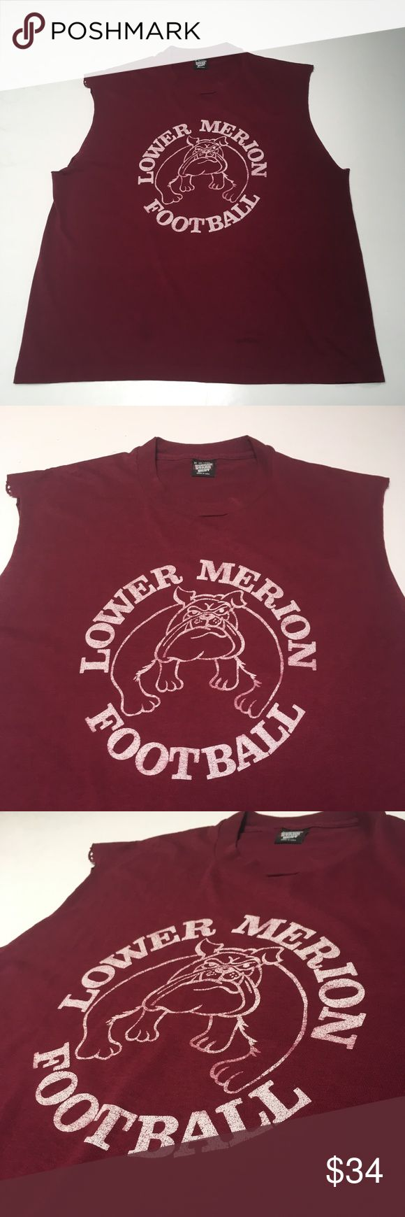 VTG 80s Lower Merion High Football Kobe Bryant If Kobe played football he would've rocked this. From his high school in Philly. Shows wear but plenty of first downs left  Please check measurements in pics to ensure fit  Smoke and pet free environment Happy to answer any questions or provide more images  Thanks for looking and Happy Poshing! Vintage Shirts Tees - Short Sleeve