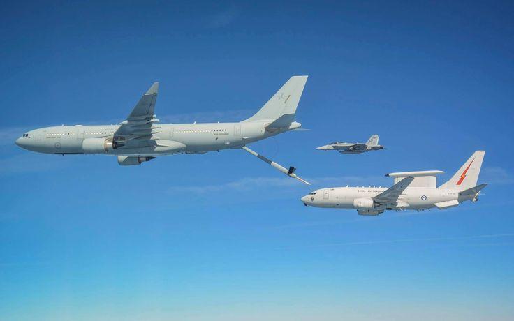 RAAF E-7A Wedgetail, KC-30A MRTT and F/A-18F Super Hornet