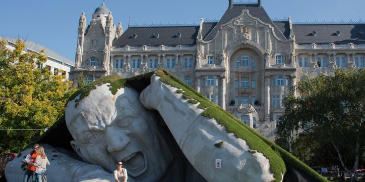 Artist Ervin Herve-Loranth's Giant Is Launching An Attack On Budapest