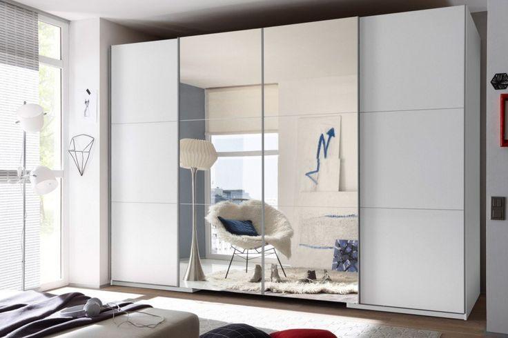 Exklusiver Schwebetüren Kleiderschrank PALAZZO 320 cm weiß mit Spiegel begehbar: Amazon.de: Küche & Haushalt