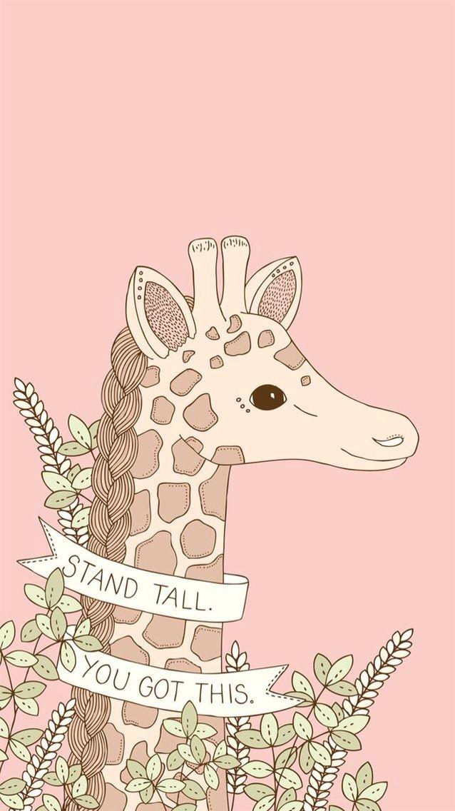 Stand tall you got this giraffe wallpaper