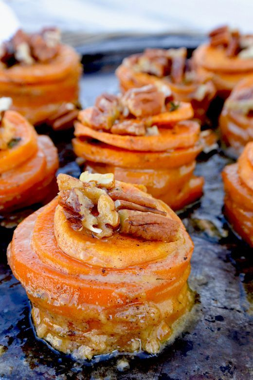 Thanksgiving ~ Mini Sweet Potato Gratins