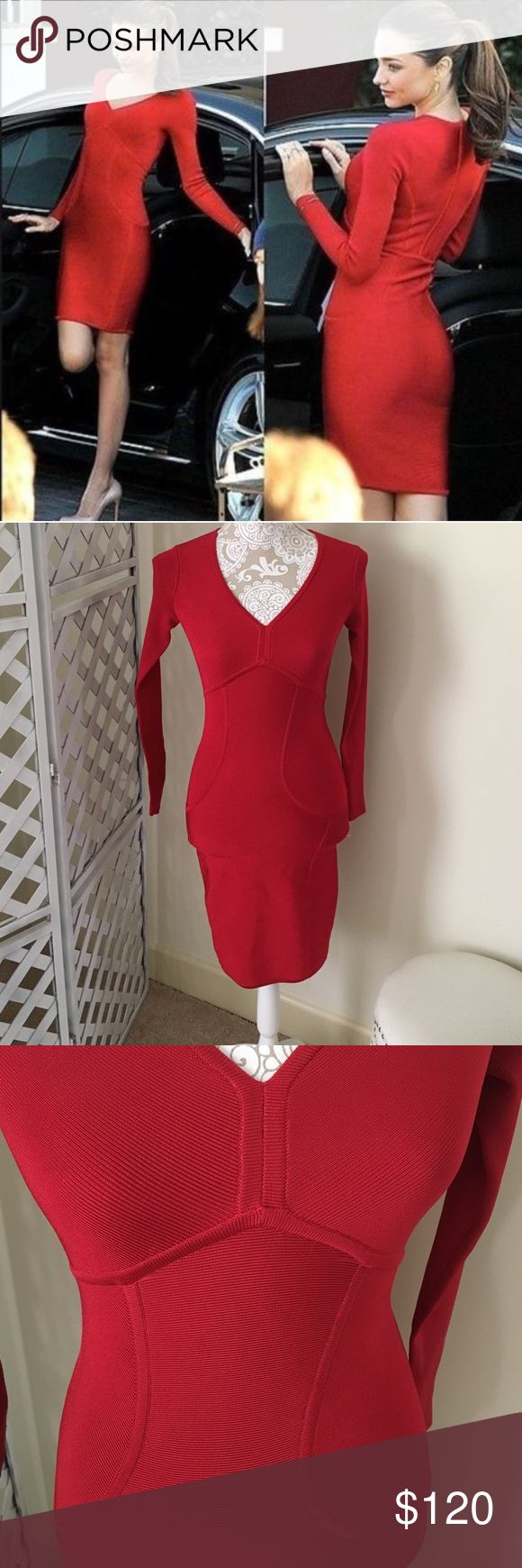 NWOT Ted Baker Red Bodycon Dress Ted Baker fitted red dress as seen on several celebrities.  NWOT ( neck tag  is cut because it can not be returned.)Dress has back zipper that stops at the waist. 74% viscose 22% nylon 4% elastane. Dress is a 0 in Ted baker sizing but a 2 in us sizing. Waist laying flat 11.5 inches length 34 inches no trades no price comments no comments from non serious buyers no lowballing ✔️I ship next day so please accept your package after receiving Ted Baker Dresses