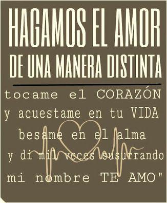 HAGAMOS EL AMOR