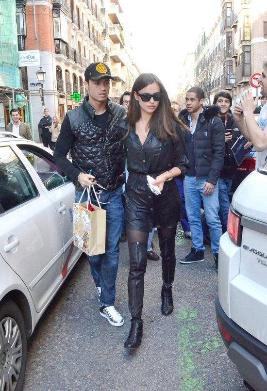 Cristiano Ronaldo and Irina Sheik street style