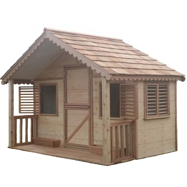 This Little Cedar Cottage Features: