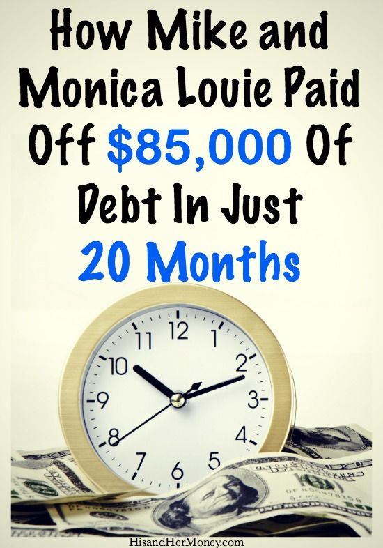 Do you think that one must make a lot of money in order to get out of debt? What if we told you that we know of a couple that paid off $85,000 of debt in just 20 months, on a single middle-class income...would you believe us? The best part is they paid off more than $65,000 in just the first year! Find out how they did it and change your financial lives today.
