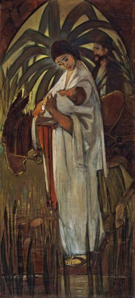 this. this. this. Minerva Teichert. Flight Into Egypt.