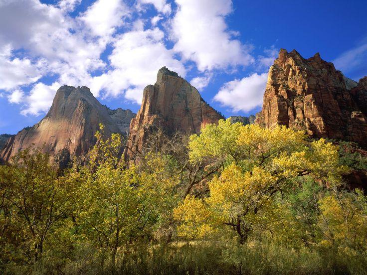 Three Patriarchs Zion National Park  #National #Park #Patriarchs #Three #Zion