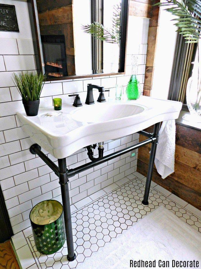 Master Bathroom Renovation Husband S Shaving Station Sink