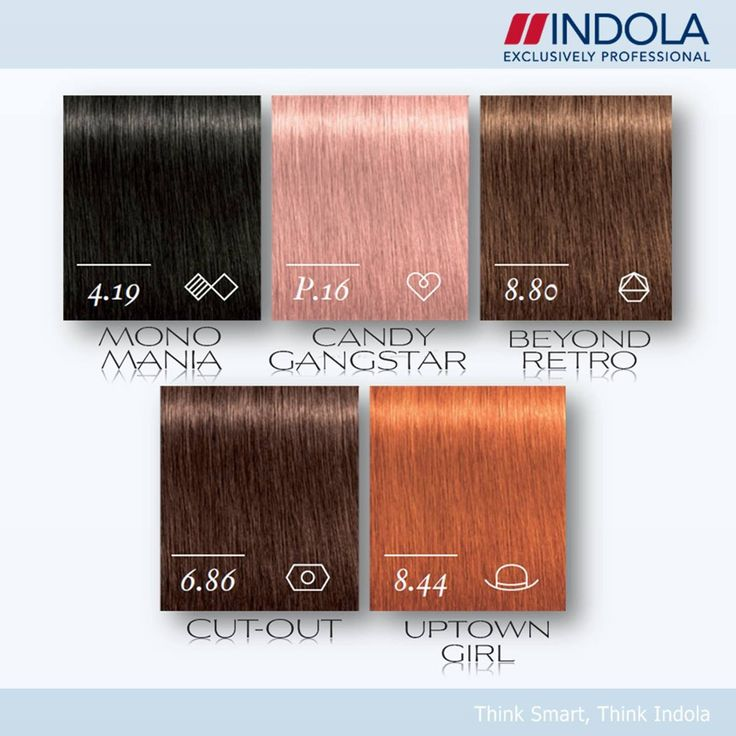 Indola Profession Permanent Caring Color Shades street style collection 2014.