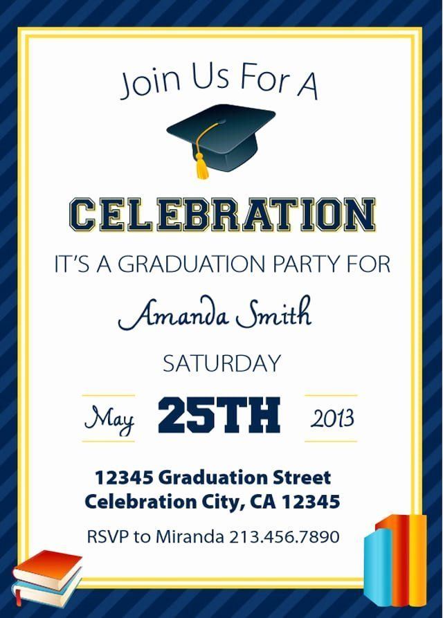 Graduation Party Invitation Template Free New Free Print In 2020 Graduation Party Invitations Templates Printable Graduation Invitation Graduation Invitations Template