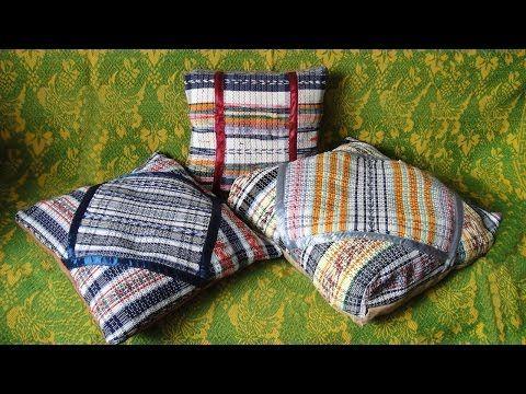 Виде мастер-класс: Подушки для кресел из тканых ковриков - Ярмарка Мастеров - ручная работа, handmade