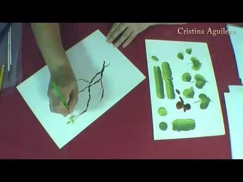 Pintar Hojas , painting leaves