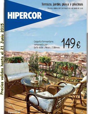 Catalogo de hipercor terraza y jardin verano 2015 for Ofertas muebles terraza