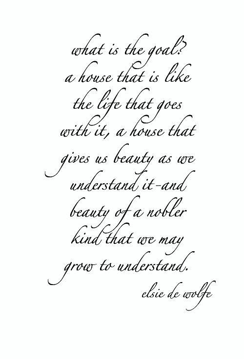 wednesday wisdom:  from the great elsie de wolfe