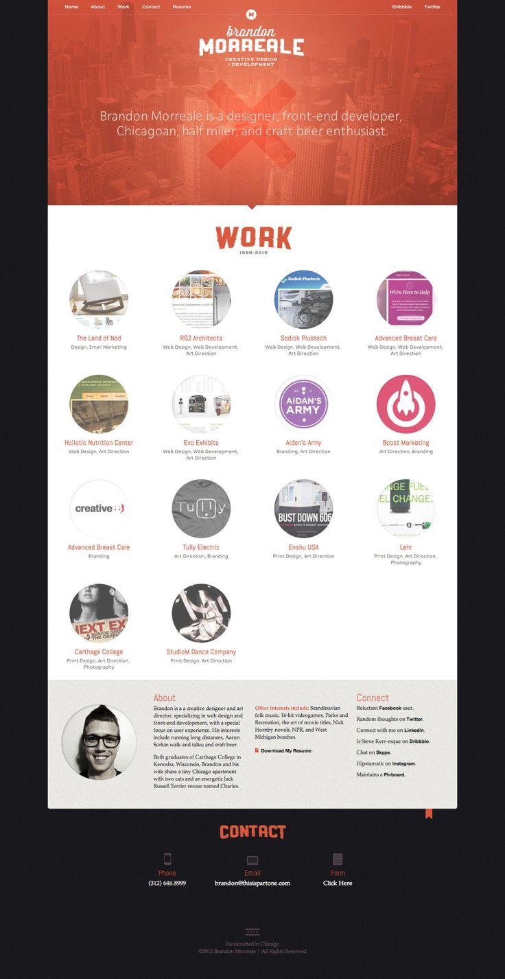 full screen 15 Stylish Examples of Portfolio Web Design | Inspiration